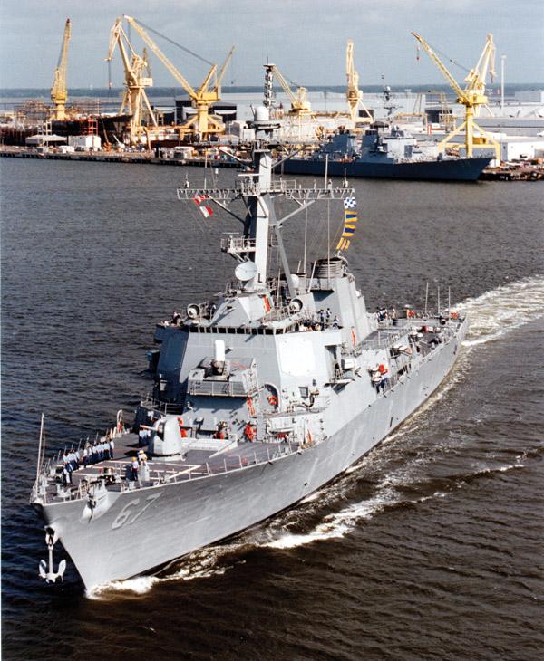 USS Cole Departure