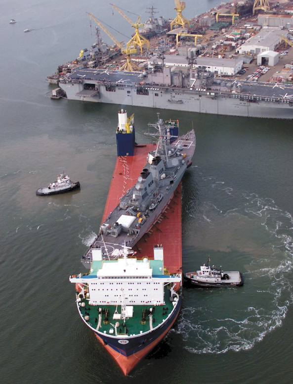 USS Cole Arrival