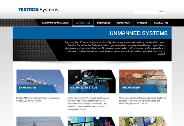Textron Systems Website