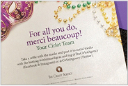The Cirlot Agency Mardi Gras – Direct Mail Piece