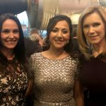 Cirlot's Lisa Comer (l) and Liza Cirlot Looser (r) with Shaesta at the Smithsonian National Air and Space Museum's Trophy Awards in March 2018.