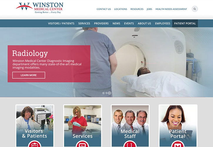 Winston Medical Center Website - 7