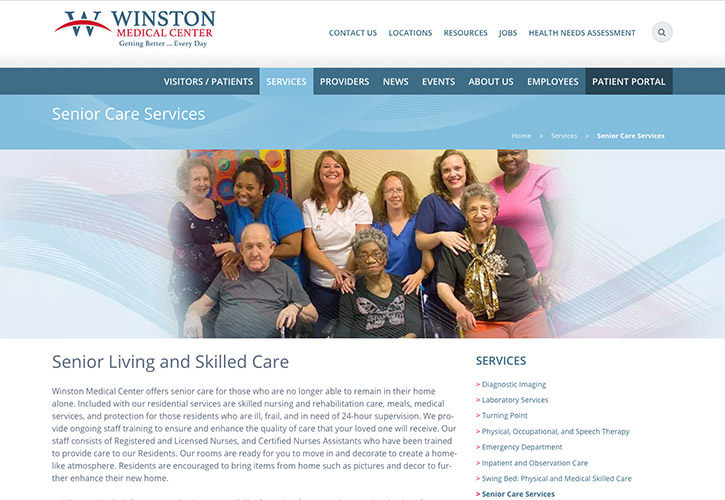 Winston Medical Center Website - 5