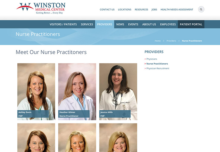 Winston Medical Center Website - 4