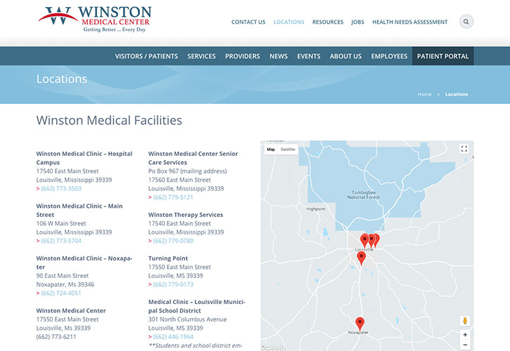 Winston Medical Center Website - 3