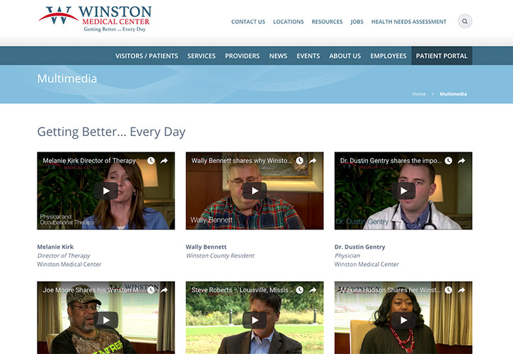 Winston Medical Center Website - 2