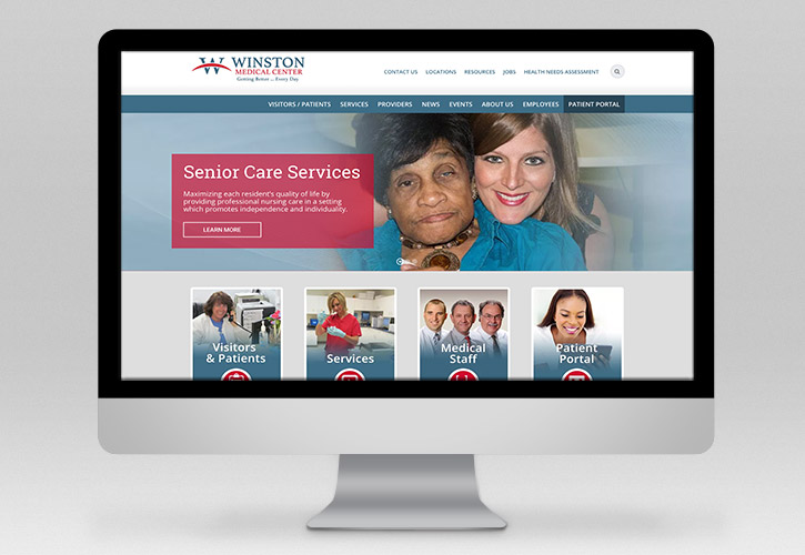 Winston Medical Center Website - 1